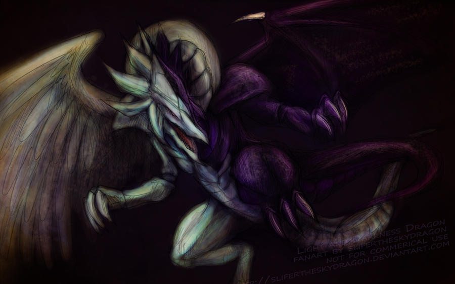 $7 lineart Light + Darkness D. by slifertheskydragon on ...