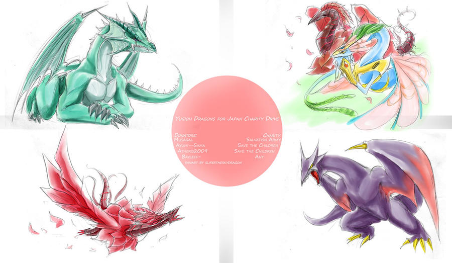 Yugioh Dragons for Japan 2 by slifertheskydragon