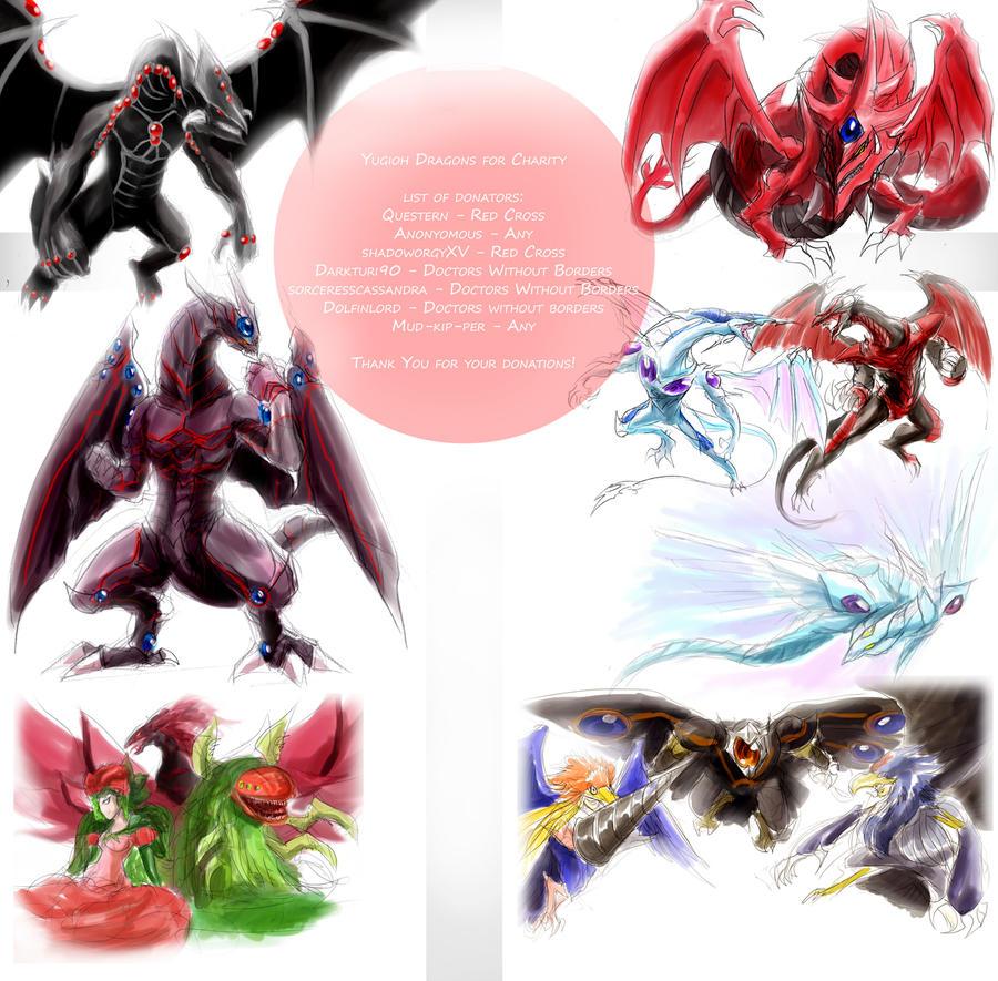 Yugioh Dragons for Japan 3 by slifertheskydragon