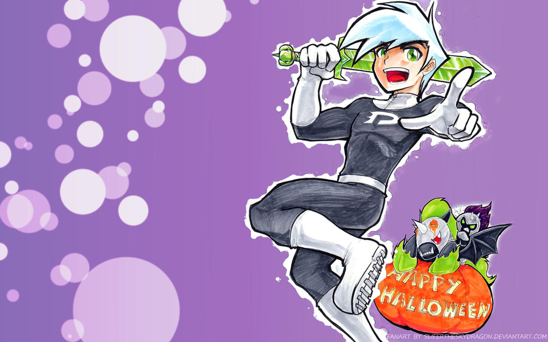 Danny Phantom Happy Halloween by slifertheskydragon