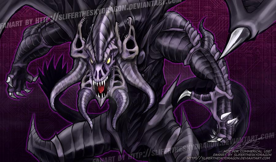 Grapha, Dragon Lord of Dark World by slifertheskydragon