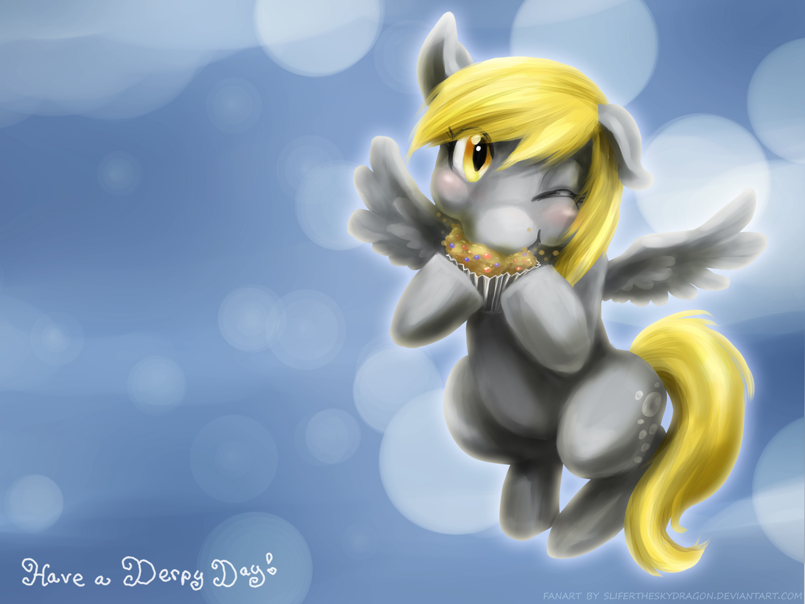 Have a Derpy Wallpaper by slifertheskydragon