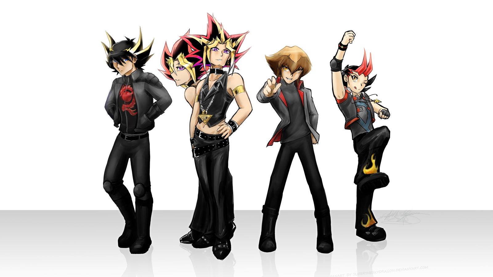 Yugioh 5DXAL Boy Band by slifertheskydragon