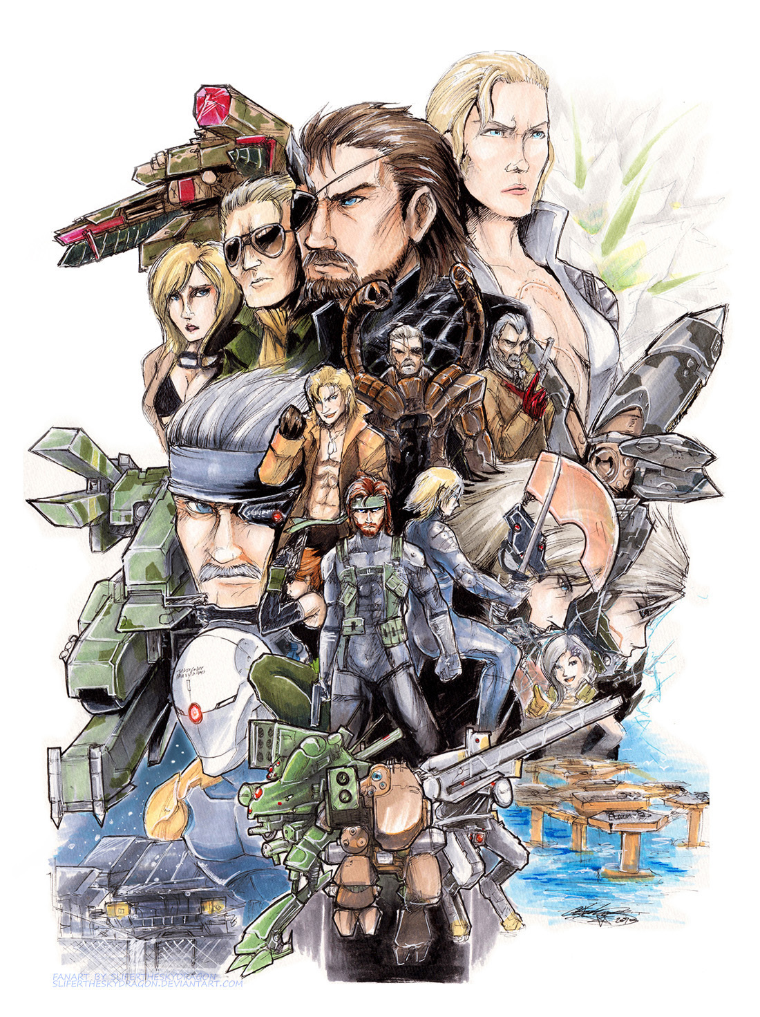 Metal Gear 25th and Beyond by slifertheskydragon