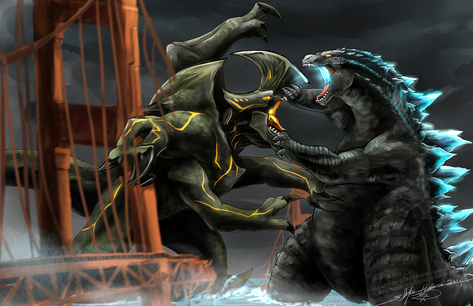 Godzilla  2014  vs Trespasser  Pacific Rim  by slifertheskydragonPacific Rim Vs Godzilla