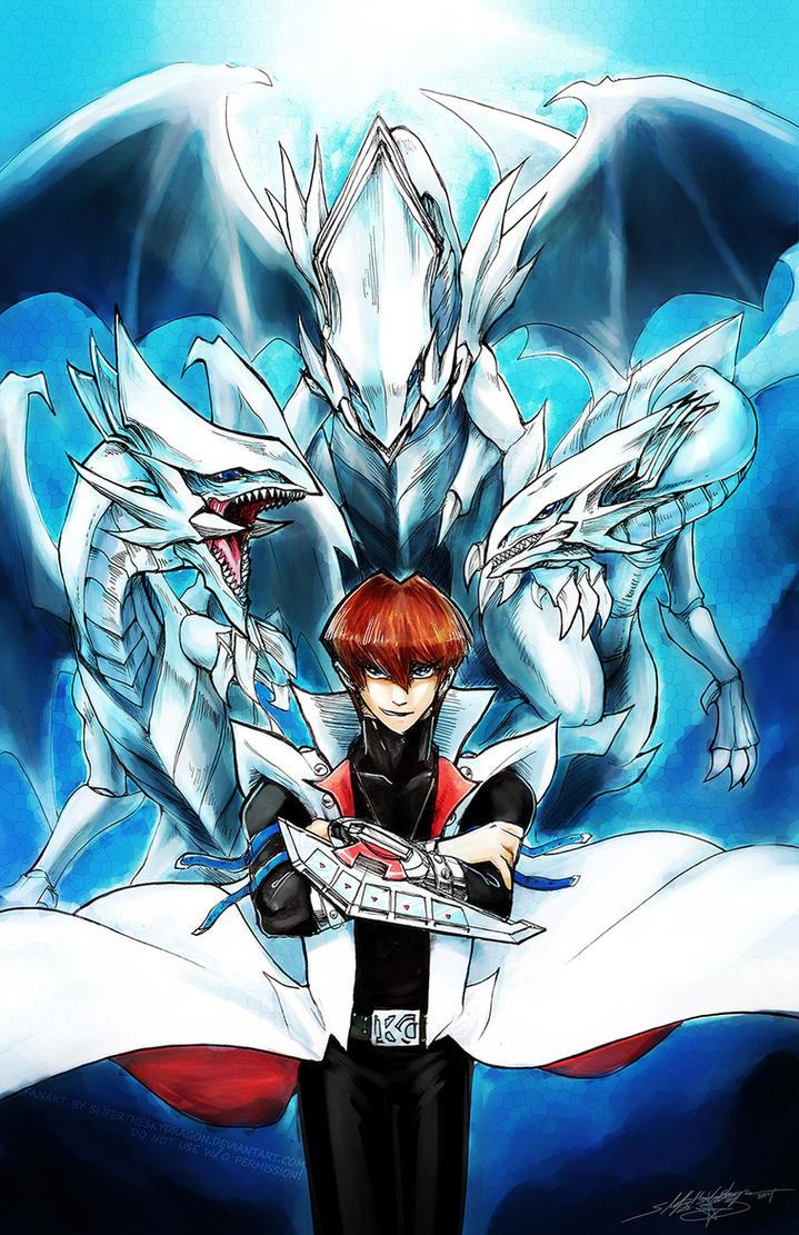 Seto Kaiba - Master of the Blue Eyes White Dragons by slifertheskydragon