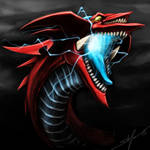 slifer the sky dragon - speedpaint head