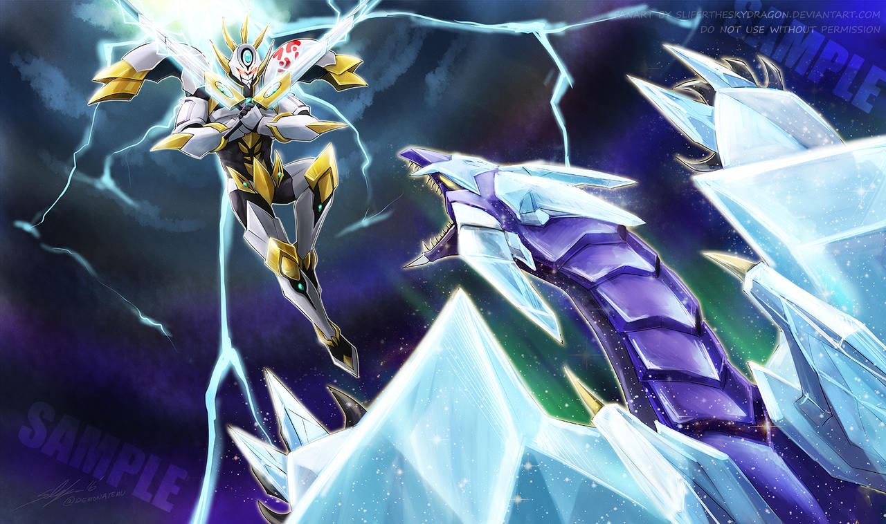 Utopia the Lightning vs Crystal Wing Dragon
