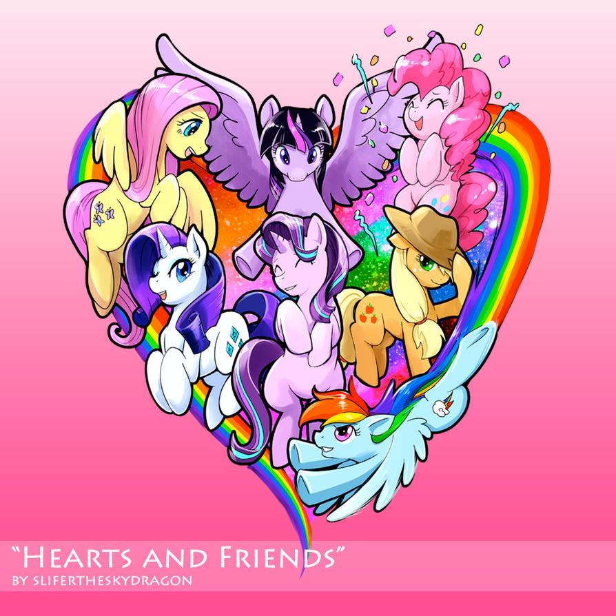 my little pony fanart hearts and friends by slifertheskydragon on