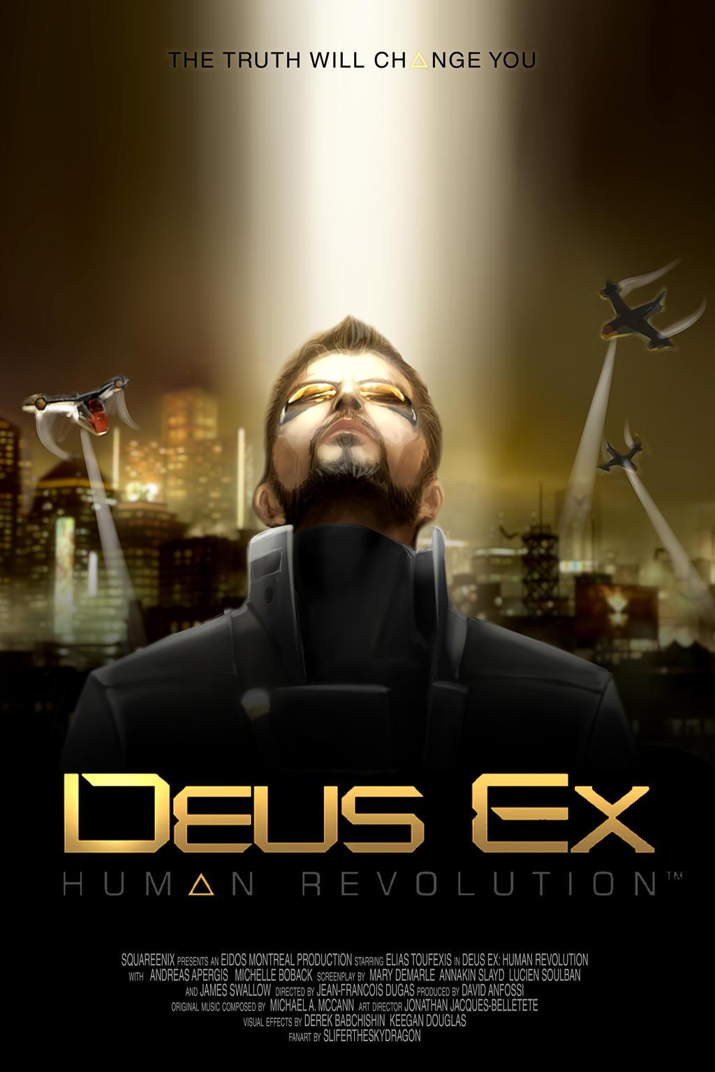 Deus Ex Human Revolution omage by slifertheskydragon