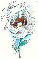 White Rose Warrior by slifertheskydragon