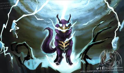 Thunderclap Skywolf Playmat