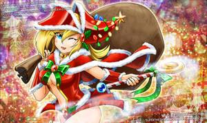 Santa's magical girl helper
