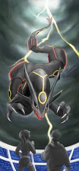 Pokemon GO - Shiny Rayquaza phone wallpaper