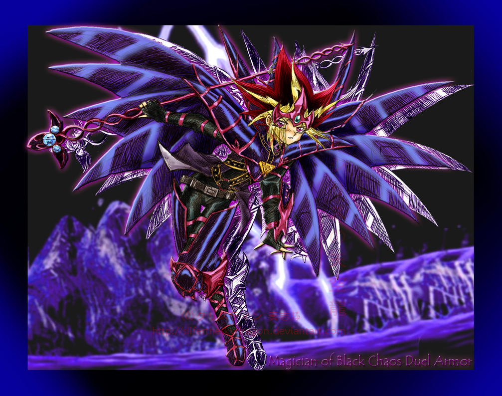 Magician of b chaos duel armor by slifertheskydragon on - Yugioh art wallpaper ...