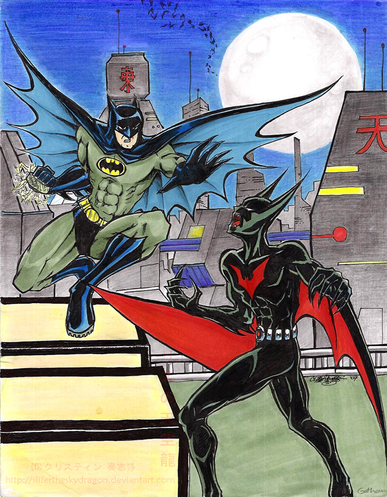 Batman Beyond v Batman by slifertheskydragon on DeviantArt
