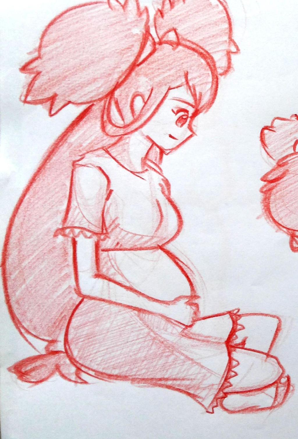 Pokemon Iris pregnant 02 by Skyfer7 on DeviantArt