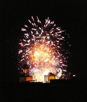 Feuerwerk an der Paulskirche
