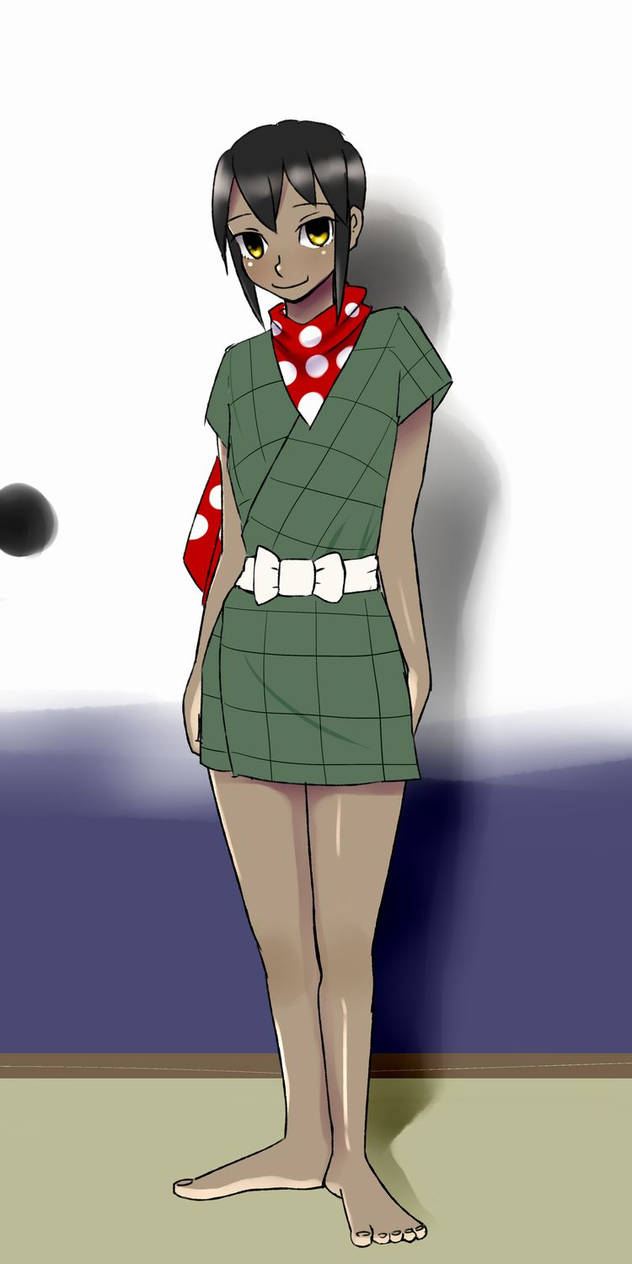 Yoko cosplays Sasuke.