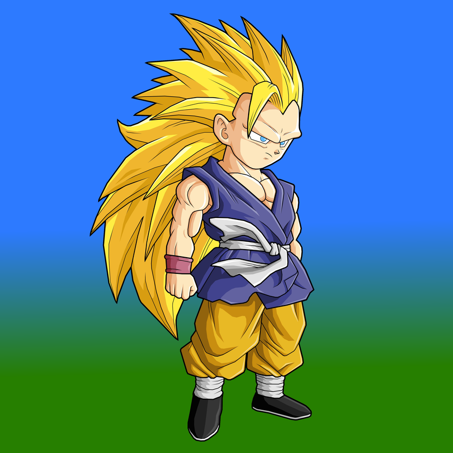 Kid Goku GT SSJ3 by BossBooski on DeviantArt