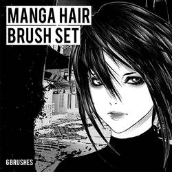 MANGA HAIR BRUSHES   CLIP STUDIO PAINT