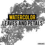 WATERCOLOR LEAVES AND PETAL BRUSHES | PHOTOSHOP