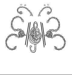 Celtic Music Butterfly Tattoo