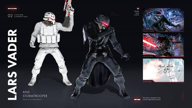 Lars Vader and Stormtrooper