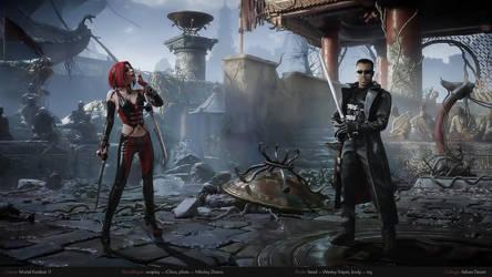 BloodRayne and Blade in Mortal Kombat 11