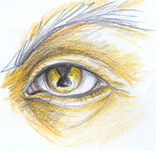 Raistlin's eye by Lahara