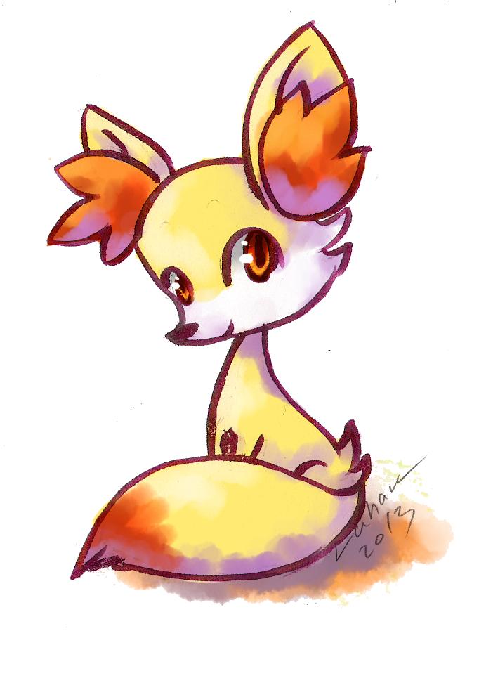 Firefox starter - Fennekin by Lahara
