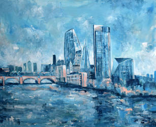 The Vase -  View from W'loo Bridge by Lahara