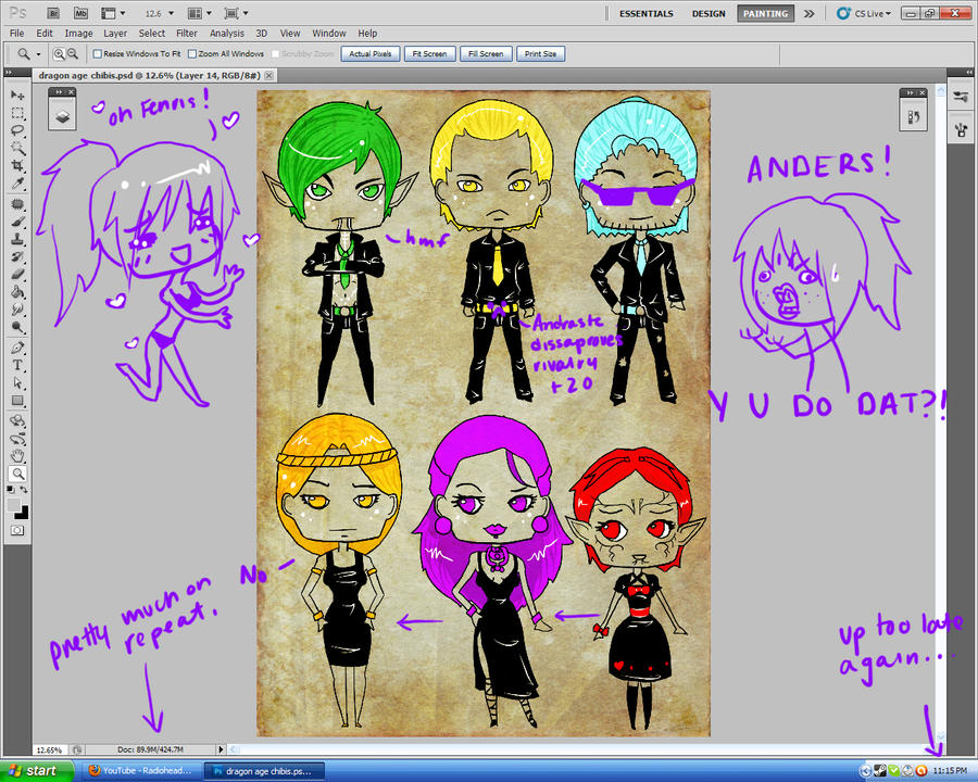 Dragon Age Chibi WIP by Missi-Moonshine