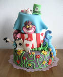 Alice in Wonderland cake by Naera