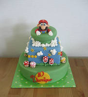 Super Mario Cake by Naera