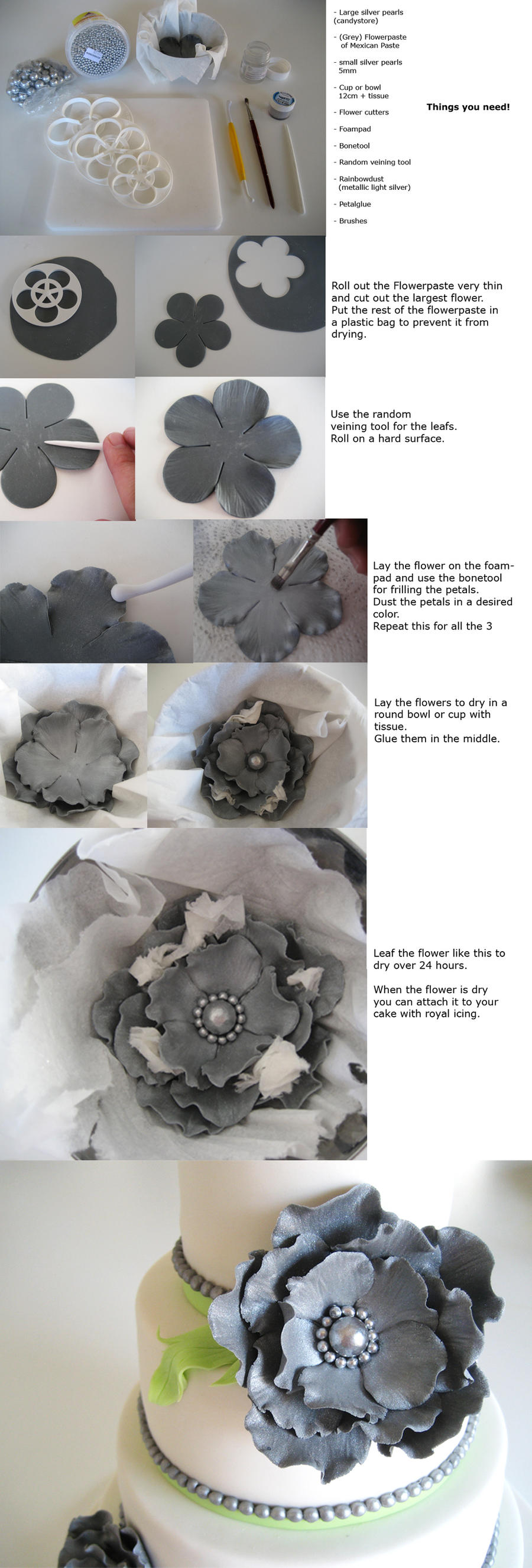 Tutorial Large Chic Flower by Naera