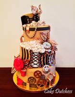 Steampunk Cake by Naera