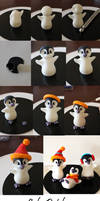 Edible Penguin step by step