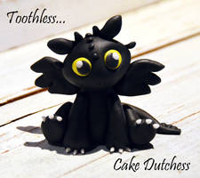 Baby Toothless Caketopper by Naera