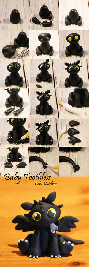 Baby Toothless Step by Step