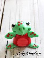 Fondant Turtle - Free video tutorial by Naera
