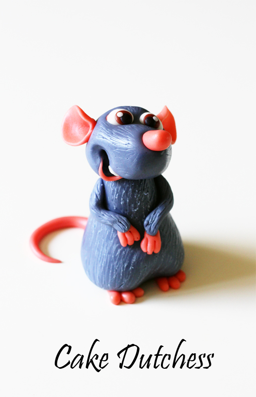 Remy Ratatouille Cake Topper + video tutorial by Naera