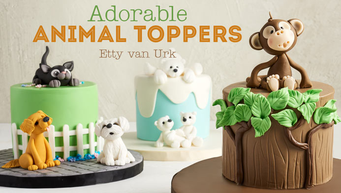 Learn how to make Adorable Animal Toppers by Naera