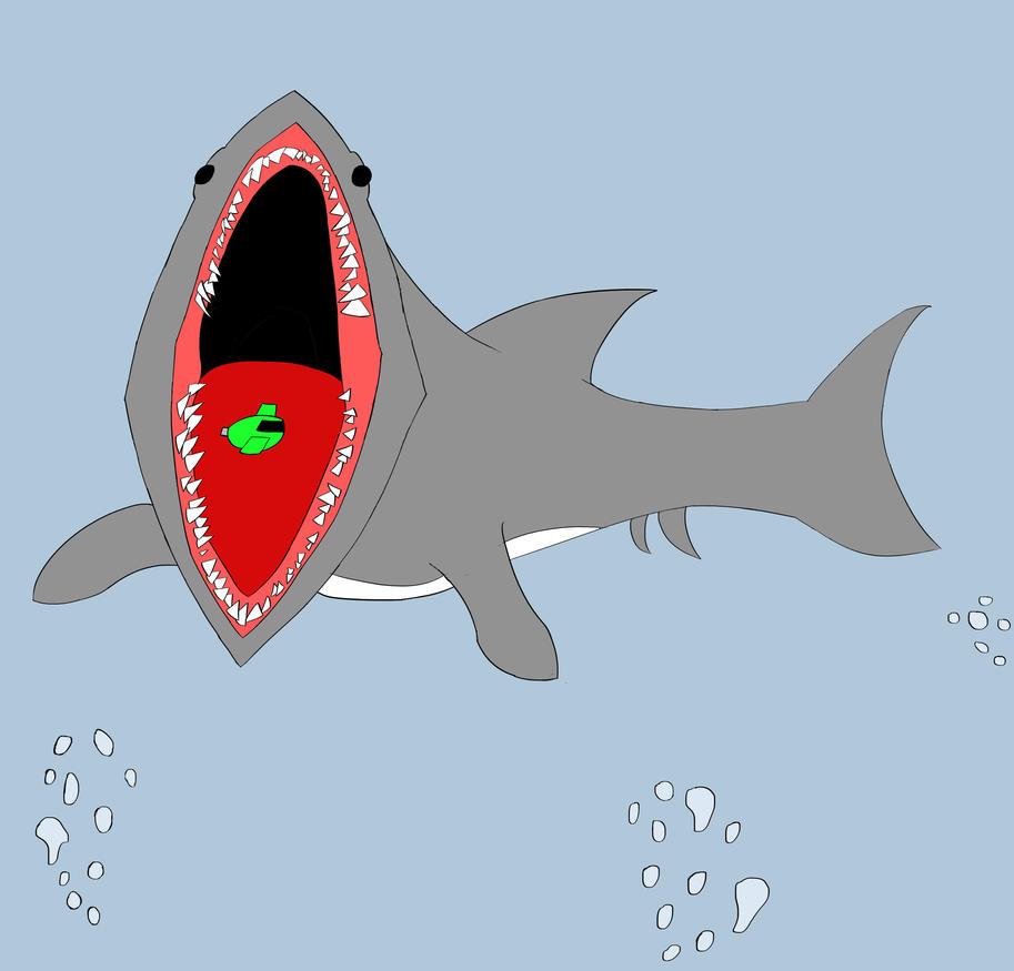 Giant Shark Attack by RobertMisirian