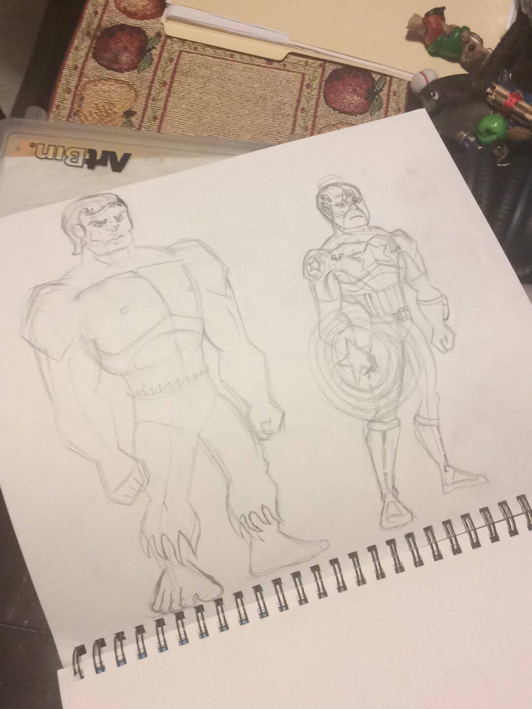 Avengers Initiative Lineup-Cap and Hulk by RobertMisirian