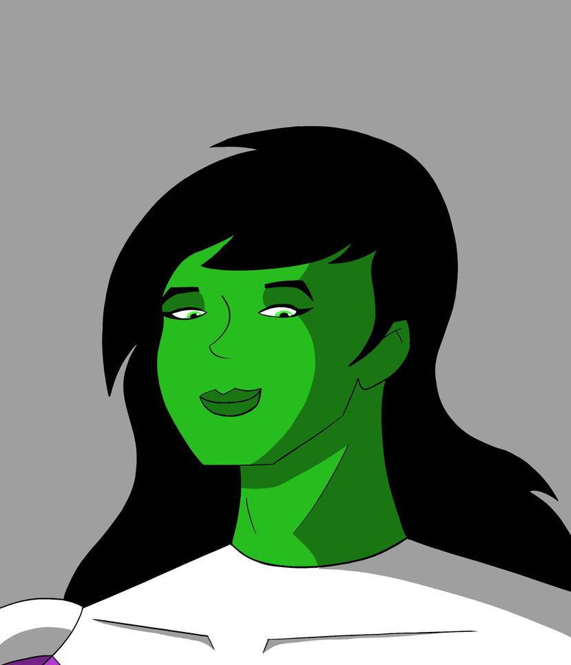 She-Hulk Headshot by RobertMisirian