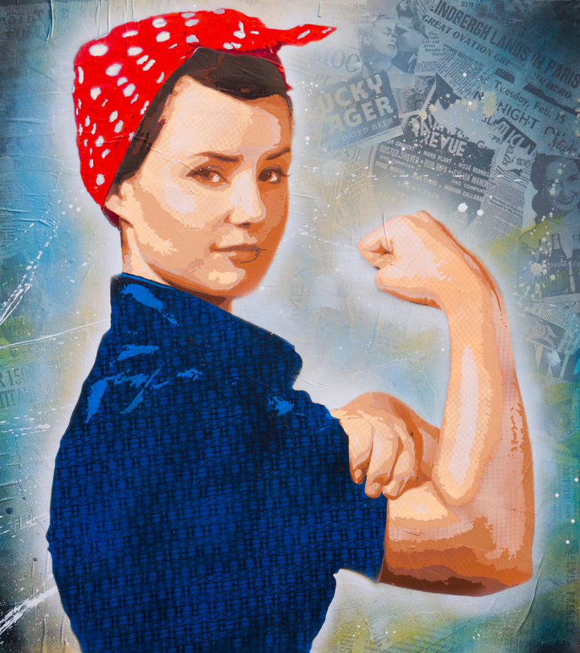 Rosie The Riveter Stencil Version by jois85