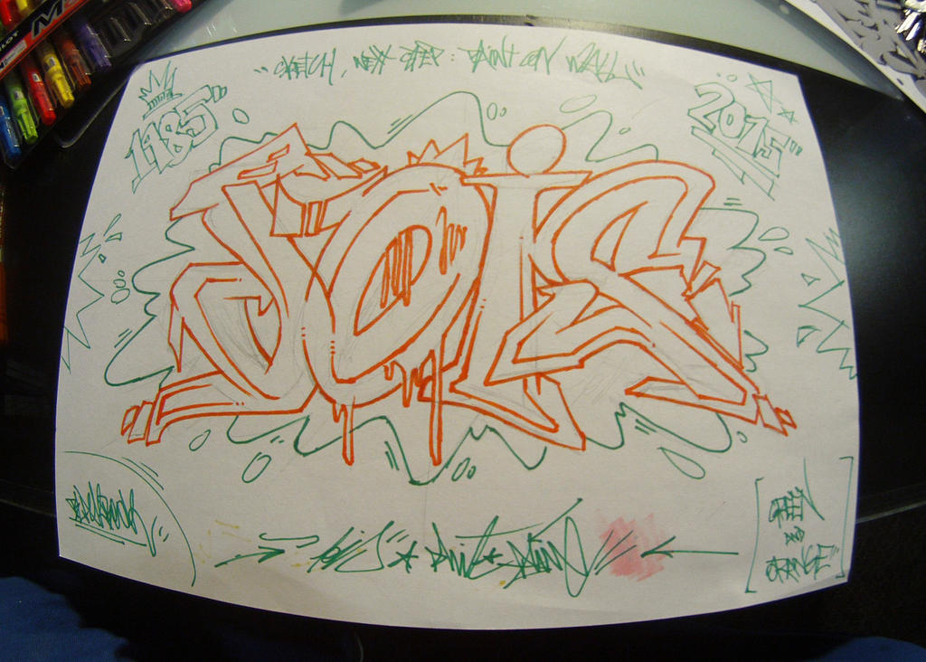 Presketch for wall by jois85