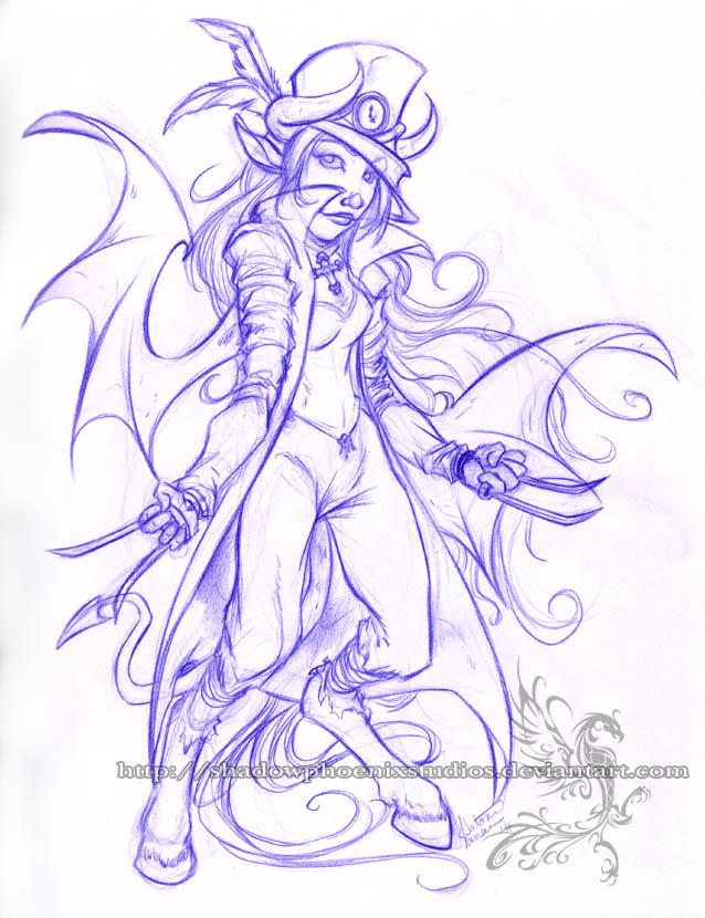 Freebie Sketch - Duld by ShadowPhoenixStudios