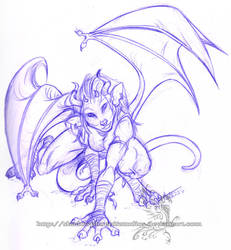 Freebie Sketch - Ocolot Gargoy